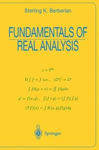Fundamentals of Real Analysis: Integration theory and general topology form the core of this textbook for a first-year graduate course in real analysis. After the foundational material in the first chapter (construction of the reals, cardinal and ordinal numbers, Zorn's lemma and transfinite induction), measure, integral and topology are introduced and developed as recurrent themes of increasing depth.