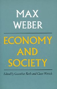 Max Weber's Economy and Society is the greatest sociological treatise written in this century. Published posthumously in Germany in the early 1920's, it has become a constitutive part of the modern sociological imagination.